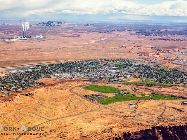 Aerial photo of Page, AZ