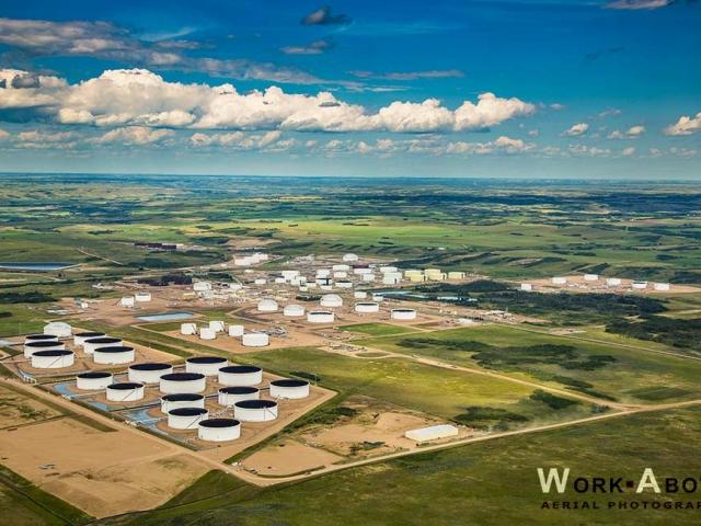 Aerial photo of Hardisty Tank Farm