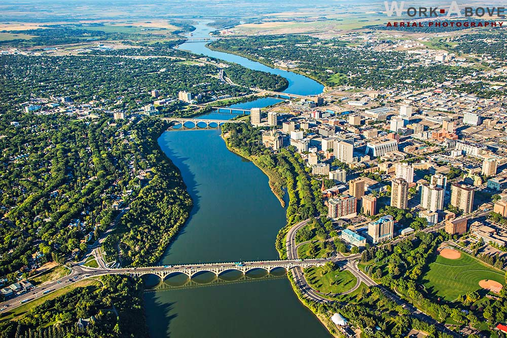 Aerial Photo of Saskatoon, SK - 120823_1012