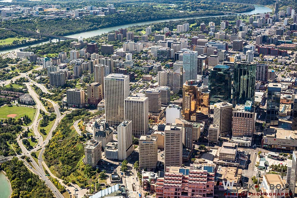 Aerial Photo of Edmonton, AB