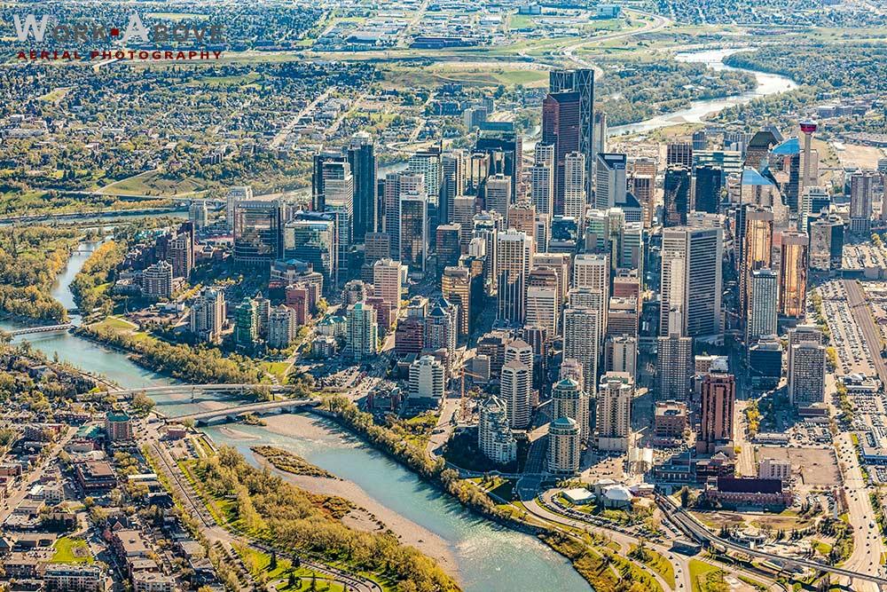 Aerial Photo of Calgary, Alberta - 150911_1166