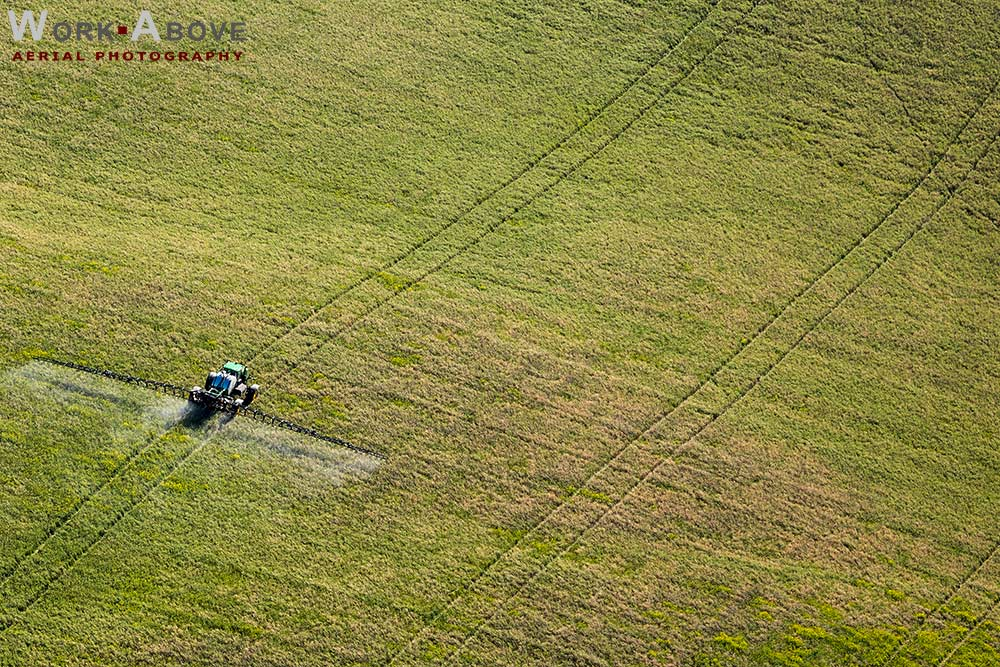 GPS directed crop spraying  in Central Alberta - 151014_6188