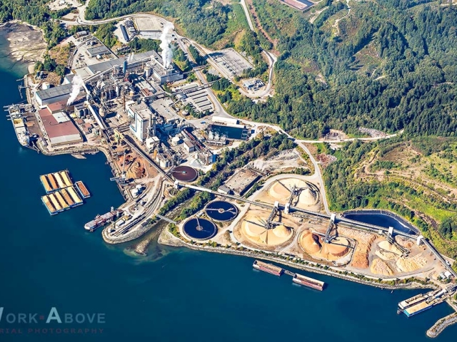 Howe Sound Pulp and Paper, Port Mellon on Sunshine Coast