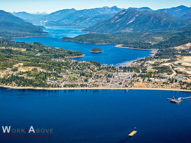Aerial View of Sechelt BC on the Sunshine Coast - Sechelt_0369